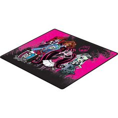 *BOUGHT* Monster High Polyester Accent Rug, Black/Hot Pink, she has this rug in her new room.