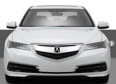 2015 Acura TLX White Sedan front close up exterior
