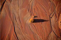Vista aérea del río Puerco, seco a su paso por el desierto Pintado, en Arizon