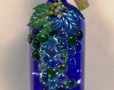 wine bottle crafts rocks lights - Google Search