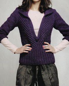 Free Knitting Patterns - Jersey V neck with type