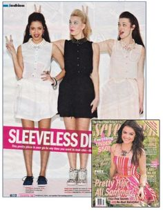 Foreign Exchange in the June-July 2013 issue of Seventeen Magazine. Get this dress in all three three colors black, nude and white!