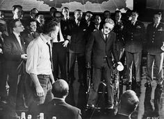 """JANUARY 29,  1964: The premiere of """"How I Learned to Stop Worrying and Love the Bomb,"""" more commonly known as """"Dr. Strangelove,"""" directed by Stanley Kubrick and starring Peter Sellers and George C. Scott, is held in the United States."""