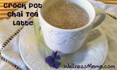 Crock Pot Chai Tea Latte  This crock pot recipe makes a delicious Chai Tea Latte from healthy herbs and spices. Great on the go or chilled for an iced latte.