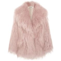 Miu Miu Oversized faux fur coat (20.915 ARS) ❤ liked on Polyvore featuring outerwear, coats, jackets, fur, coats & jackets, pink fake fur coat, oversized coats, faux fur coat, fake fur coat and oversized collar coat