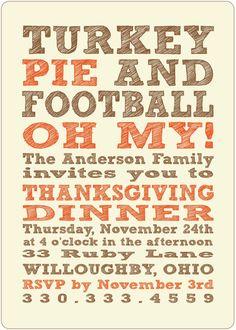 Thanksgiving Invitations by bbinvitations on Etsy, $3.00