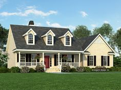 Country Exterior - Front Elevation Plan #929-222