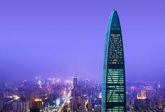 Exterior of The St. Regis Shenzhen at night