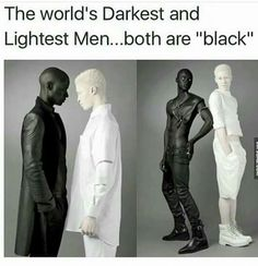 Papis Loveday and Shaun Ross (albino) - The lightest and darkest skin color. Photos by Rebecca Litchfield. Shaun Ross, Black Power, Black Is Beautiful, Beautiful People, Memes Arte, Style Ethnique, Wtf Fun Facts, Faith In Humanity, The More You Know