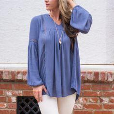Los románticos de la blusa, azul