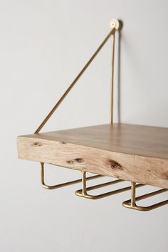 """Get terrific suggestions on """"bar cart decor ideas"""". They are actually on call for you on our website. Wine Shelves, Bar Shelves, Wall Bar Shelf, Wine Glass Shelf, Live Edge Bar, Live Edge Shelves, Bar Cart Decor, Home Bar Designs, Diy Bar"""
