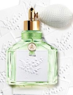 Green Grace with Lily of the Valley: New Guerlain Muguet Perfume Edition ~ New Fragrances ~ Fragrantica Lily Of The Valley Bouquet, Parfum Guerlain, Perfume Packaging, Cosmetics & Perfume, Beautiful Perfume, New Fragrances, Perfume Fragrance, Vintage Perfume Bottles, Smell Good