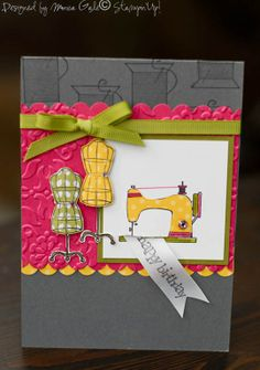 good idea for Sew Suite stamp set-love the paper piecing.