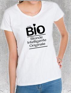 T-shirt pour une blonde, intelligente et originale : T-Shirt, debardeurs par tshirts-d-elles