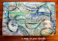 A Penny for your Thoughts: Handmade Canvas Portfolio Journals