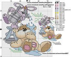 Bom dia Hoje tem lindos ursinhos para abrilhantar seu enxoval, criações by Natalia