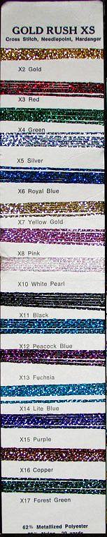 Gold Rush XS shade card