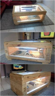 If you love to keep water fishes in your house but you want to avoid a giant aquarium then choosing the option of the wood pallet table with lights is perfect one. This pallet table has been comprised with the transparent water portion in bottom side which you can fill with marine items of your own choice.