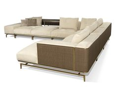 Nella Vetrina Visionnaire IPE Cavalli Backstage Sectional In Upholstered Beige Fabric Sofa Cheap Patio Furniture, Couch Furniture, Luxury Furniture, Furniture Ideas, Home Bedroom Design, Bedroom Ideas, Upholstered Sofa, Italian Furniture, Contemporary Bedroom