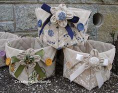 Creazioni a tutto tondo portatutto cestino di stoffa for Scatole rivestite in stoffa tutorial