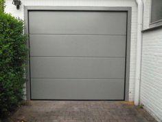 Ral 7030 Grey Front Doors, Front Doors With Windows, The Doors, Big Windows, Window Frame Colours, Window Frames, Corner House, House Front, Garage Door Styles