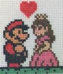 Cross Stitch and Mario! Who wouldn't love it!