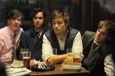 The boys enjoy a pint in Lone Scherfig's The Riot Club, out now