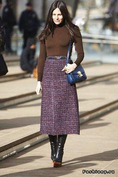 юбки миди с чем носить осенью