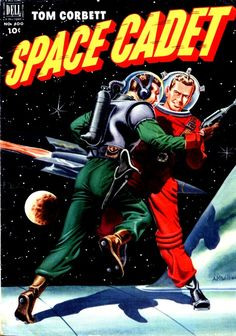 Tom Corbett Space Cadet #400, may 1952, cover by Alden McWilliams.