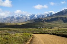 Swartberg mountains with a dusting of snow. Klein Karoo. South Africa