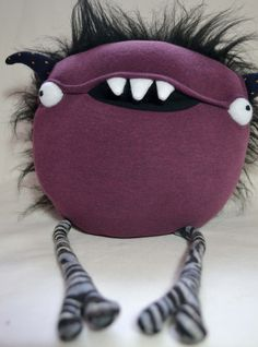 Scary plush monster halloween horror doll by sausagedog on Etsy https://www.etsy.com/ca/listing/211571253/scary-plush-monster-halloween-horror
