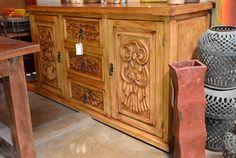 Colonial Carved Sideboard, Ochavada Colonial Buffet Especial - Demejico