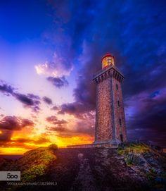 Cap Béar Port Vendres France by simonbrown3  Lighthouse MEDITERRANEAN Phare Port Vendres Pyrenees Oriental SMB Sunrise Cap Béar Port Vendres Fran