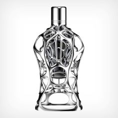 Ross Lovegrove and Formula 1 collaborate over a series of incredibly intricate fragrances Personal Weather Station, Organic Lines, Organic Form, 3d Printed Objects, 3d Printing Technology, 3d Prints, Bottle Design, Sticker Design, Formula 1