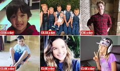 Young YouTube stars' earnings have been calculated | Daily Mail Online