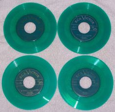 Eddy Arnold Four 45 RPM Anytime Molly Darling Just a Little Lovin Green Vinyl  #EarlyCountry