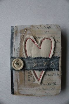 Heart mini journal button - what the heart knows...by Nellie Wortman, EarlyMorningThoughts