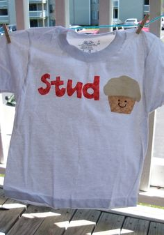 Stud Muffin Applique Shirt by Babybunnydesigns on Etsy