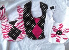 Princess Baby Bibs and Burp Cloth Set of 5. made by me with 100% flannel cotton, ships next day guaranteed unless its the weekend