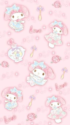 My Melody Wallpaper, Sanrio Wallpaper, Cute Pastel Wallpaper, Soft Wallpaper, Bear Wallpaper, Kawaii Wallpaper, Disney Wallpaper, Hello Kitty Backgrounds, Hello Kitty Wallpaper