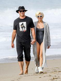 Lady Gaga Soaks Up Sun – and Golden Globes Love! – on a Romantic Stroll with Fiancé Taylor Kinney