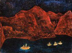 Titolo dell'immagine : Paul Klee - Suedliche Kueste abends, 1925.