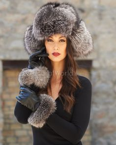 Shop FurHatWorld for the best selection of Premium Full Fur Russian Style Hats. Buy the Ladies Silver Fox Full Fur Russian Hat by FRR with fast same day shipping. Russian Beauty, Russian Fashion, Fur Fashion, Winter Fashion, Russian Hat, Fur Hats, Fur Accessories, Fabulous Furs, Fur Blanket