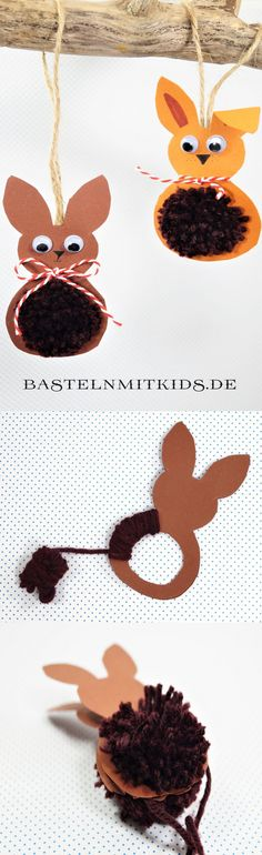 Easter bunnies make tinker with children and toddlers - Frollein Maria Osterhasen basteln mit Kindern und Kleinkindern Easter bunnies tinker with children. Handicrafts for Easter Easter Tree, Easter Bunny, Easter Eggs, Easter Crafts, Kids Crafts, Diy And Crafts, Wood Crafts, Spring Crafts For Kids, Diy For Kids