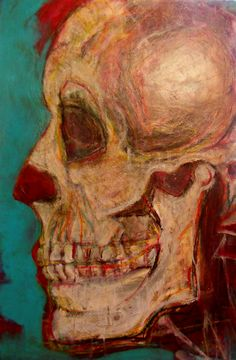 Face Off, Acrylic and Soft Pastel on 24 by 36 inch canvas by Kat Ostrow