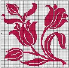 Square 54 | Free chart for cross-stitch, filet crochet | Chart for pattern - Gráfico