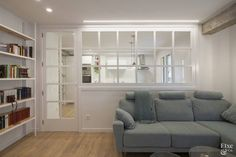 Best Minimalist Living Room Design is utterly important for your home. Whether you choose the Minima Living Room Grey, Home Living Room, Interior Design Living Room, Living Room Designs, Modern Minimalist Living Room, Minimalist Home, Shelf Furniture, Interior Windows, Room Divider Doors