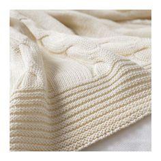 URSULA Throw, white bleached white 47x71