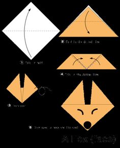 Fox origami instructions for kids