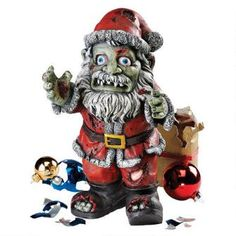 ©Zombie Claus Holiday Statue $39.95
